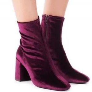 Jeffrey Campbell Cienega Low Crushed Velvet Boots